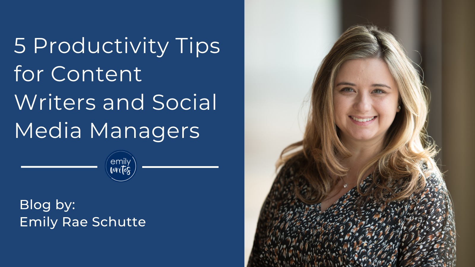 5 Productivity Tips for Content Writers and Social Media Managers