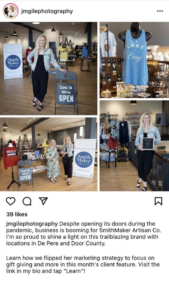 instagram post showing women small businesses